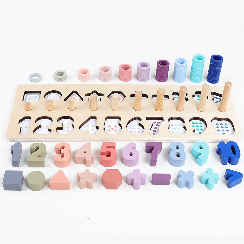 Wooden Shapes & Numbers Montessori Toy | Free Shipping Over $50