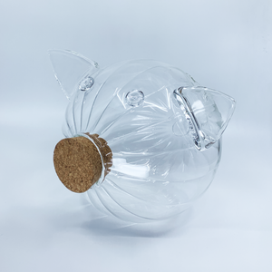 "Glass Piggy Bank ""Striped"" Collection 