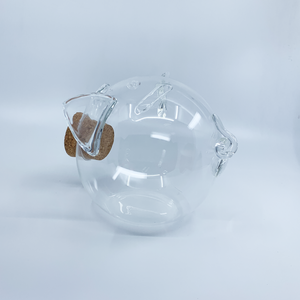 "Glass Piggy Bank ""CLEAR"" Collection 