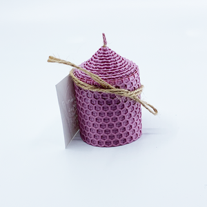 Natural bee wax handmade candle H7xD5 cm