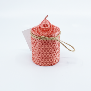 Natural bee wax handmade candle H9xD6 cm