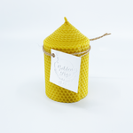 Natural bee wax handmade candle H11xD6 cm