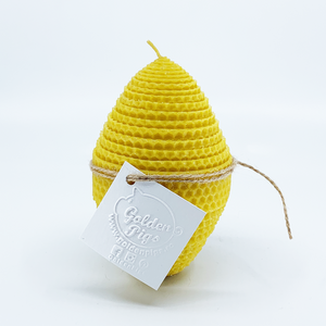 Natural bee wax handmade egg shape candle H14