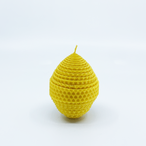 Natural bee wax handmade egg shape candle H9