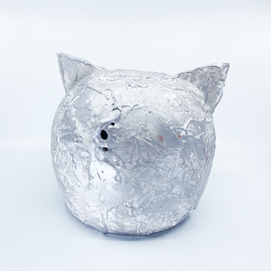 Ceramic Piggy Bank Grunge Collection SILVER | Vintage Money Box Jar