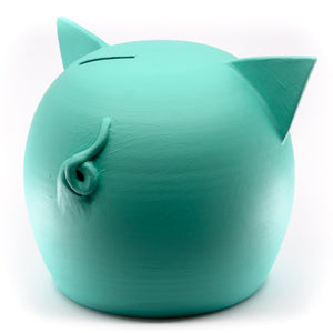 Chalk Collection Large 2021 AI Aqua Piggy Bank For Kids & Adults | Handmade Clay