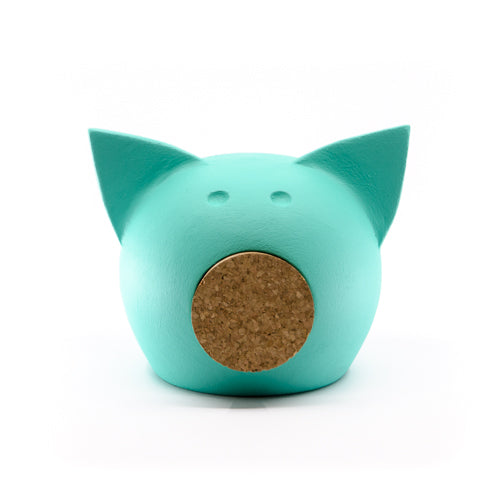 Chalk Collection Small 2021 AI AQUA Piggy Bank For Kids & Adults | Handmade Clay
