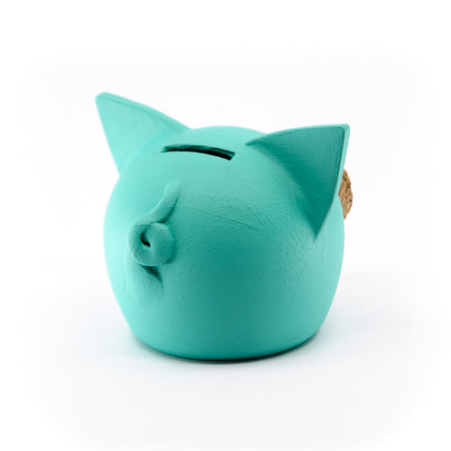 Chalk Collection Extra Small 2021 AI AQUA Piggy Bank For Kids & Adults | Handmade Clay