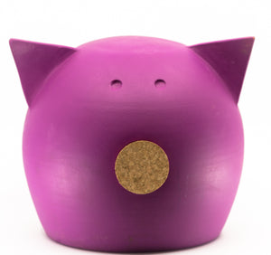 Chalk Collection Large Magenta Piggy Bank For Kids & Adults | Handmade Clay