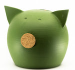 Chalk Collection Large Green Piggy Bank For Kids & Adults | Handmade Clay