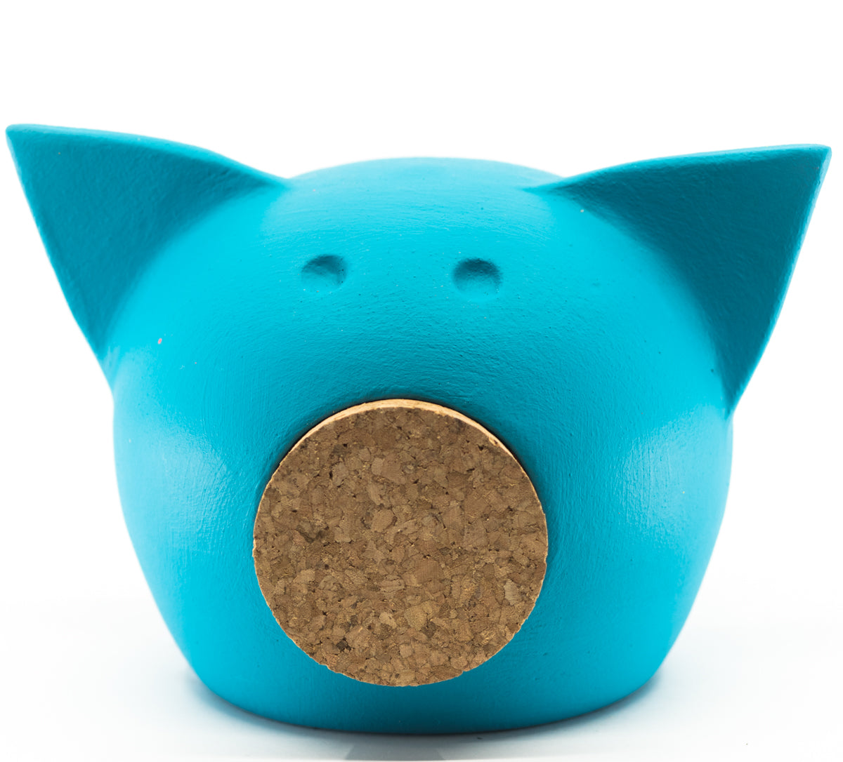 Chalk Collection Extra Small Blue Piggy Bank For Kids & Adults | Handmade Clay