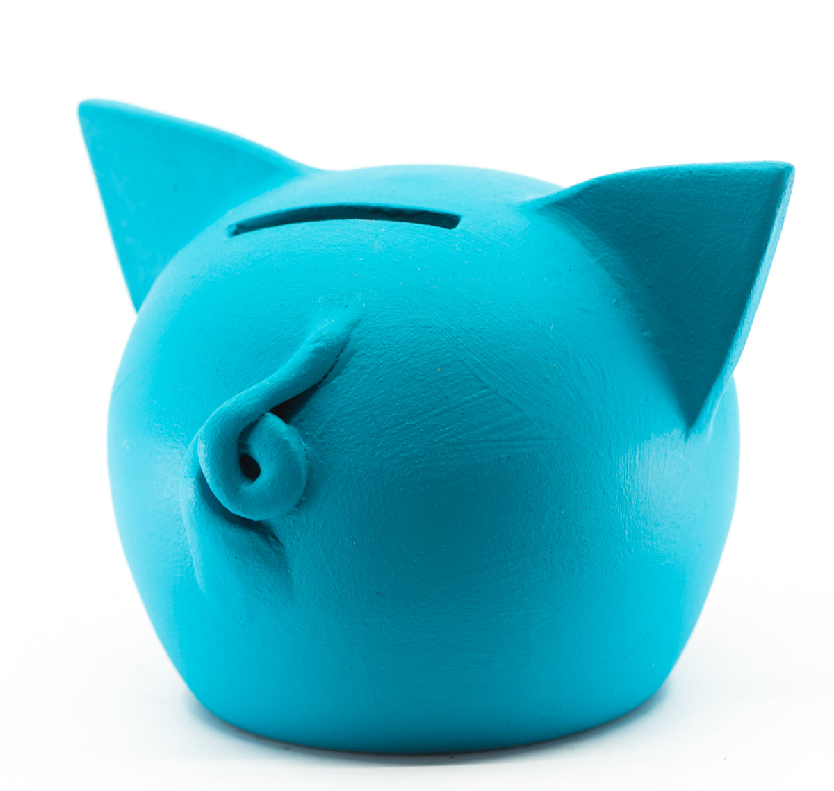 Chalk Collection Small Blue Piggy Bank For Kids & Adults | Handmade Clay