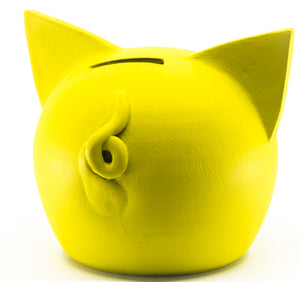 Chalk Collection Small Yellow Piggy Bank For Kids & Adults | Handmade Clay