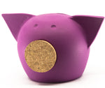 Chalk Collection Extra Small Magenta Piggy Bank For Kids & Adults | Handmade Clay