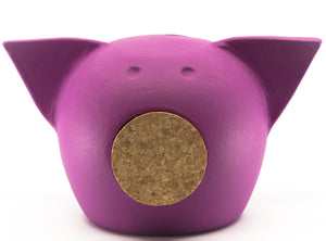 Chalk Collection Small Magenta Piggy Bank For Kids & Adults | Handmade Clay