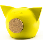 Chalk Collection Extra Small Yellow Piggy Bank For Kids & Adults | Handmade Clay