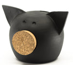 Chalk Collection Extra Small Black Piggy Bank For Kids & Adults | Handmade Clay