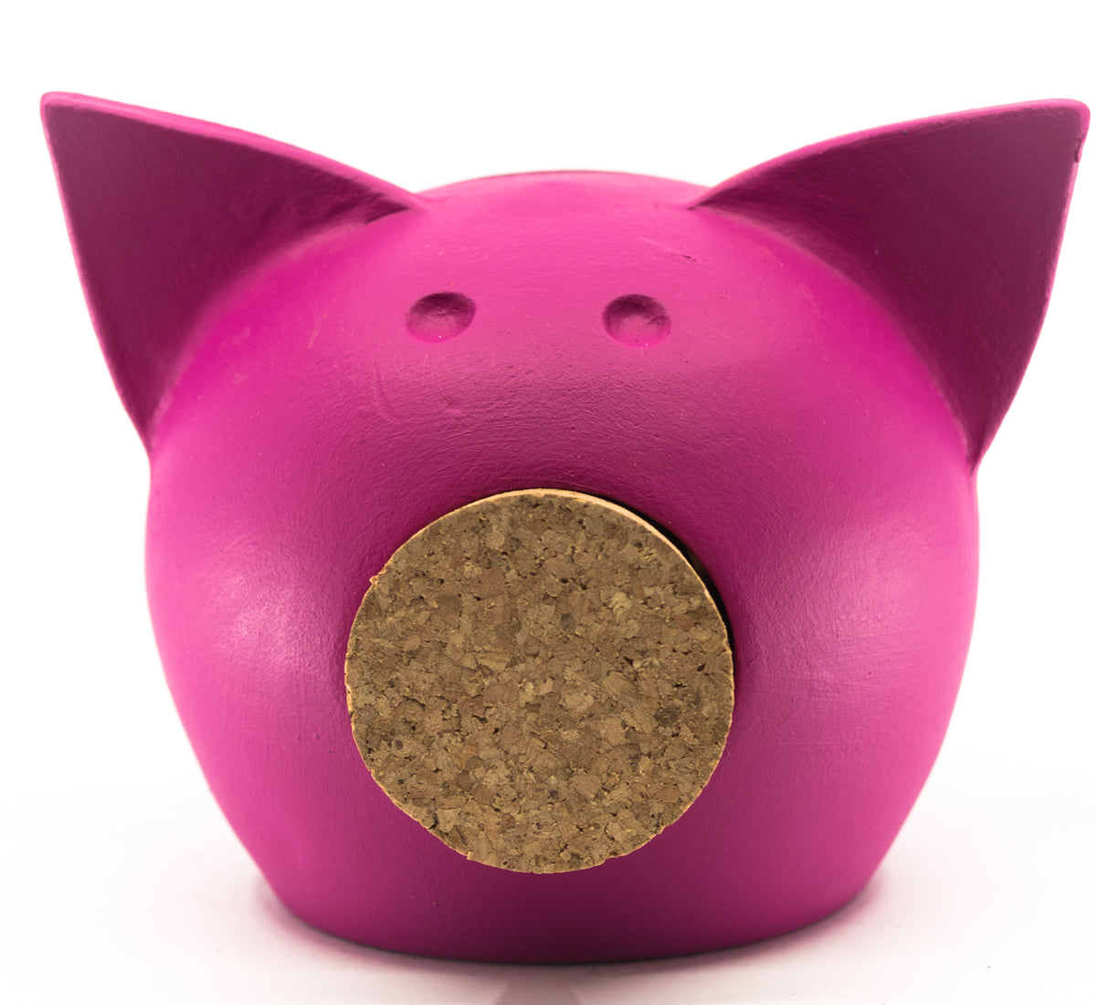 Chalk Collection Extra Small Pink Piggy Bank For Kids & Adults | Handmade Clay