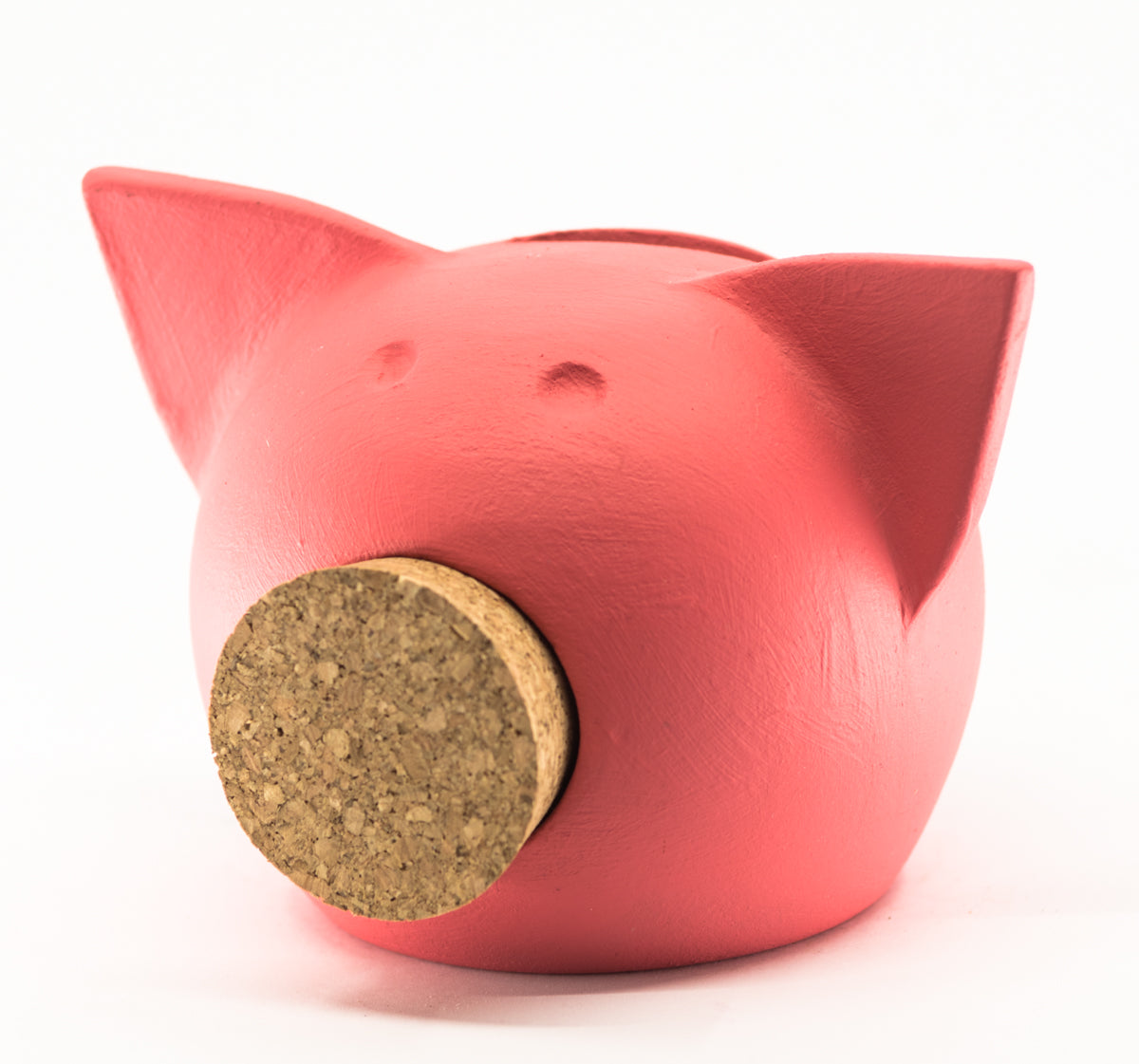 Chalk Collection Extra Small Living Coral Piggy Bank For Kids & Adults | Handmade Clay