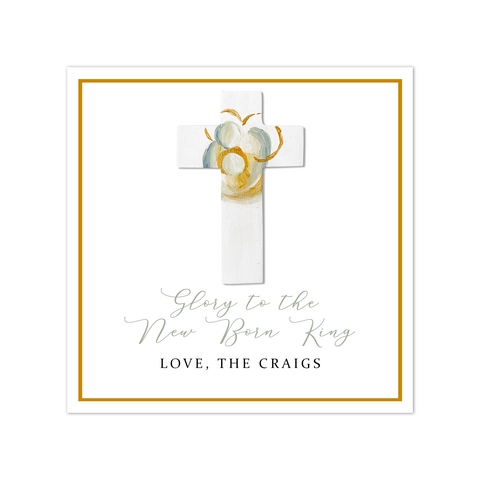 Cross Gift Tag Sticker