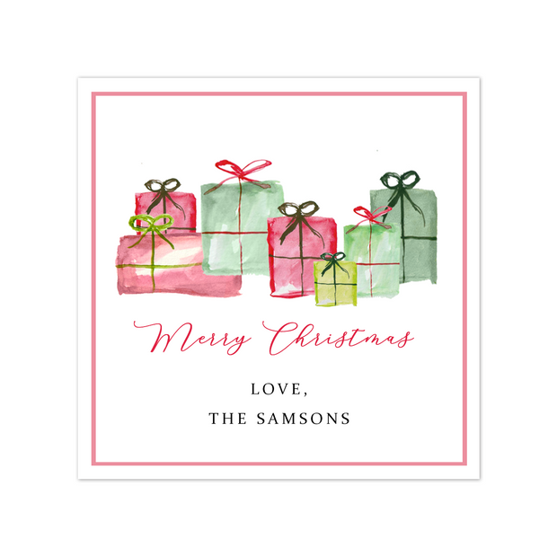 Christmas Gifts Gift Tag Sticker