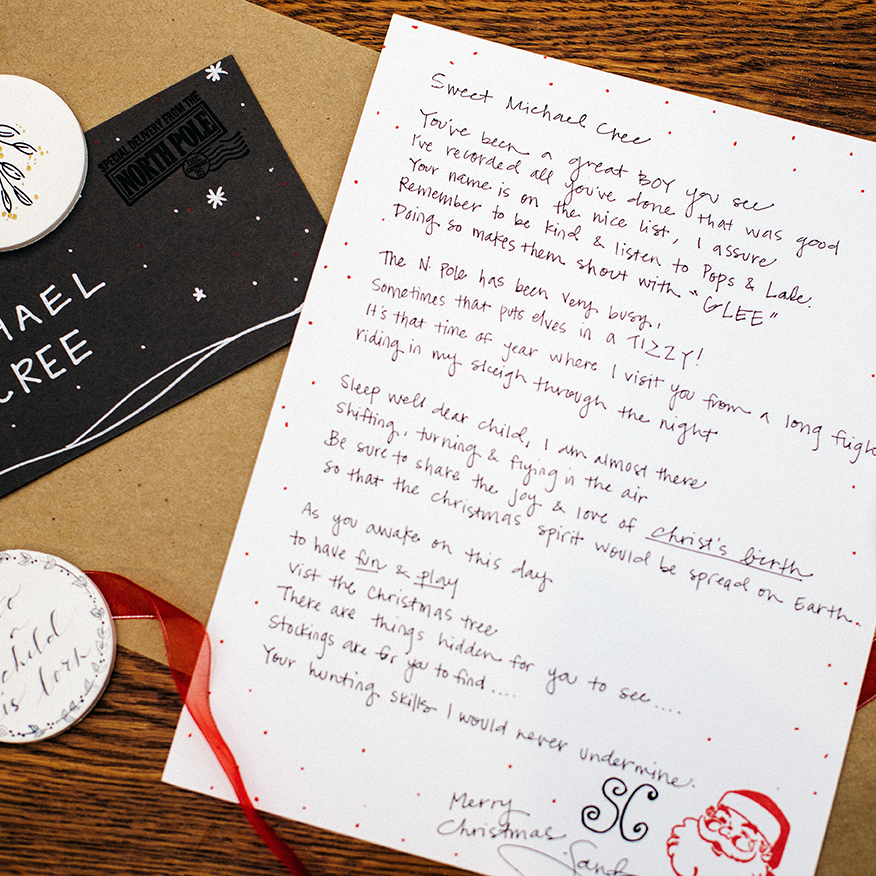 Personalized Poem/Letter from Santa (Choose Before Christmas or Christmas Day)