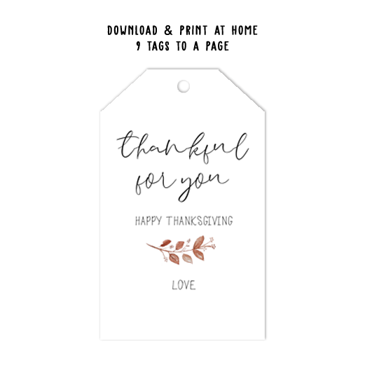 Thanksgiving Tag Template
