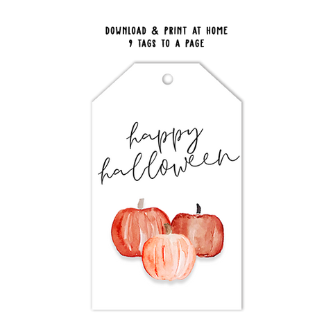Happy Halloween Simple Tag Template
