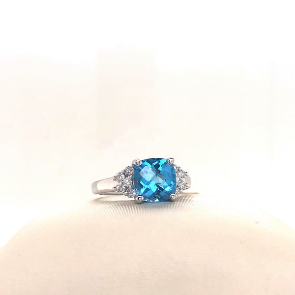 Cushion Topaz Ring