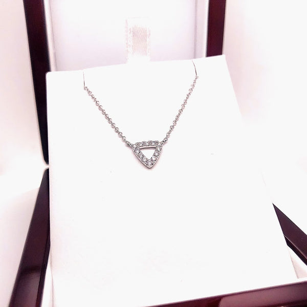 Diamond Triangle Pendant