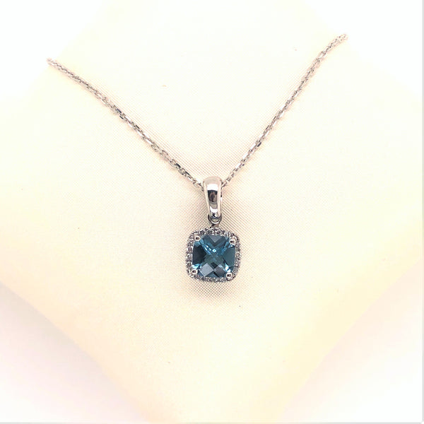 Cushion Cut Topaz Pendant
