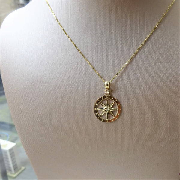 The 14K Compass Necklace