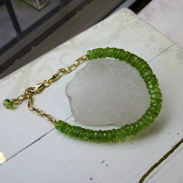The Peridot Bead Bracelet