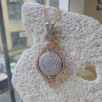 Rose Gold and Diamond Vertical Medallion