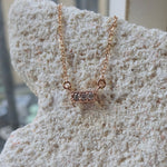 The Petite Three Diamond Bar Necklace