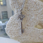 Whimsical 14K White Gold Key