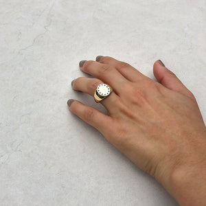 signet gold rings trends ana buendia