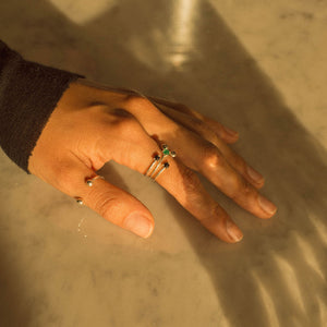stackable emerald rings ana buendia