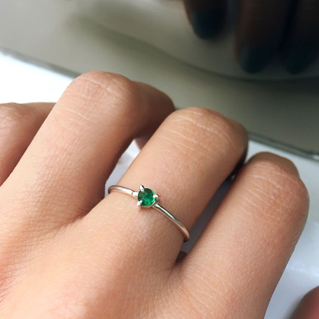 engagement emerald ring ana buendia