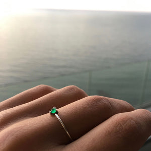 esset ring emerald ana buendia jewelry