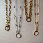 Gold and silver chains handmade jewelry ana buendia