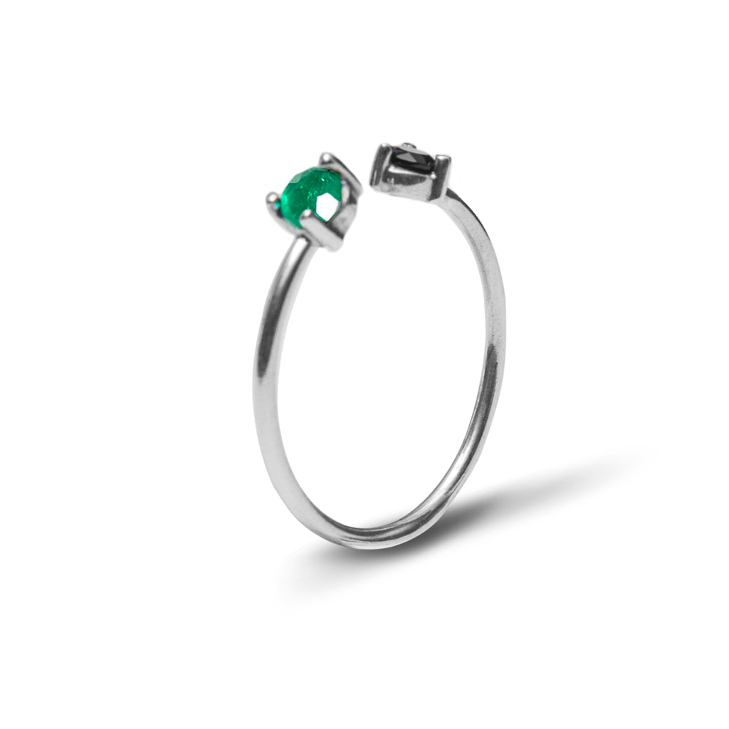 colombian emerald open rings moda jewelry