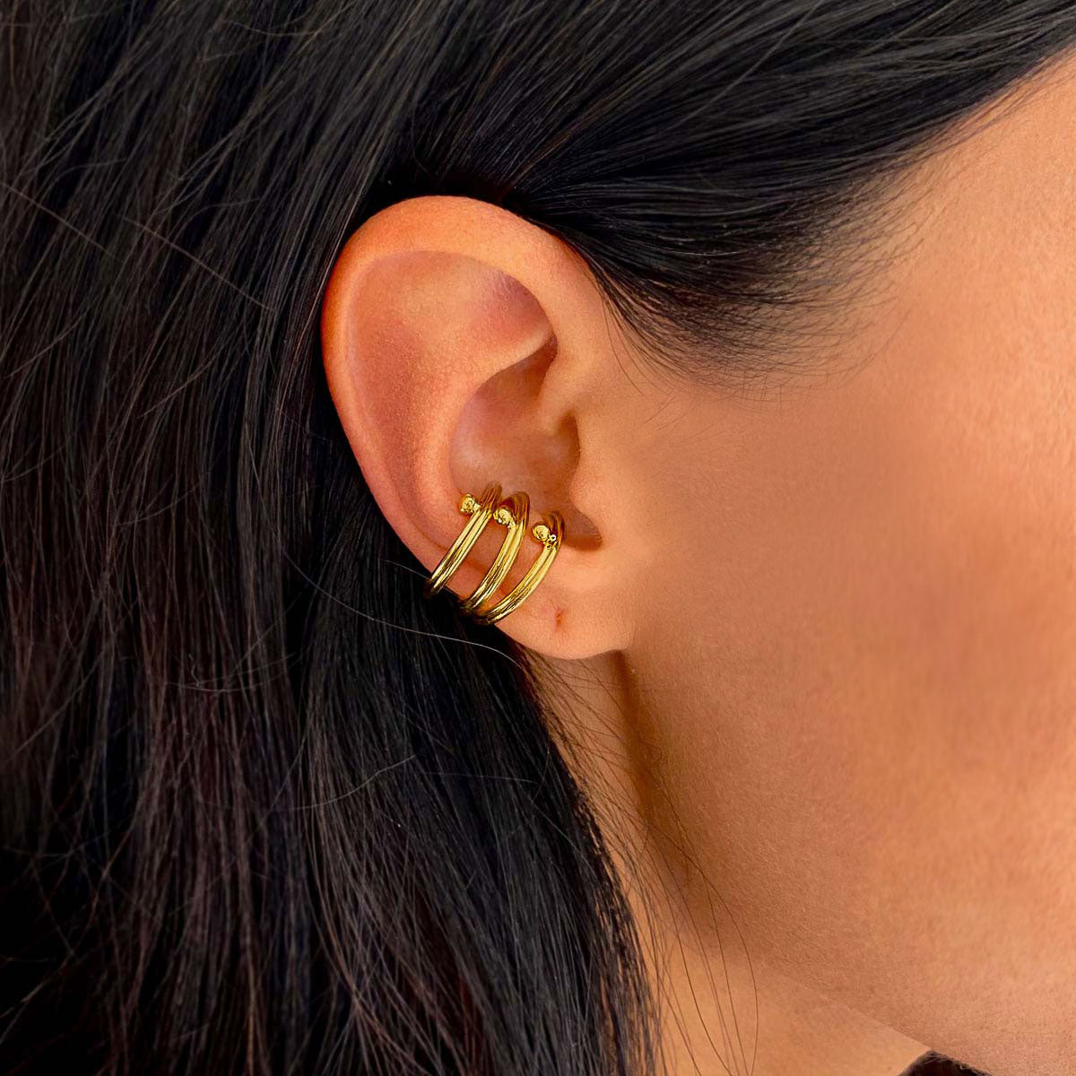 ear cuffs silver gold vermeil made by artisans colombian jewelry