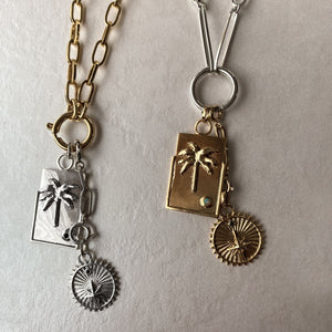 stacking charms and medallions sterling silver and gold chains