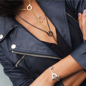 layered chains silver street style