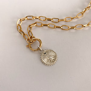 silver medallion and bold chain necklace colombian jewelry designers
