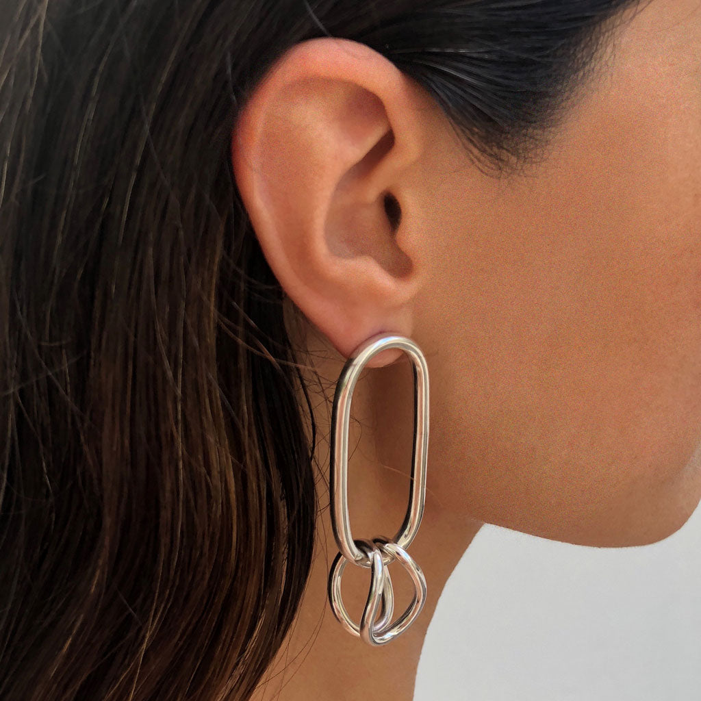 silver minimal earrings colombian handmade jewelry ana buendia