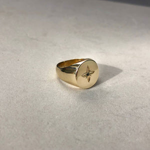 SHAN SIGNET RING GOLD PLATED