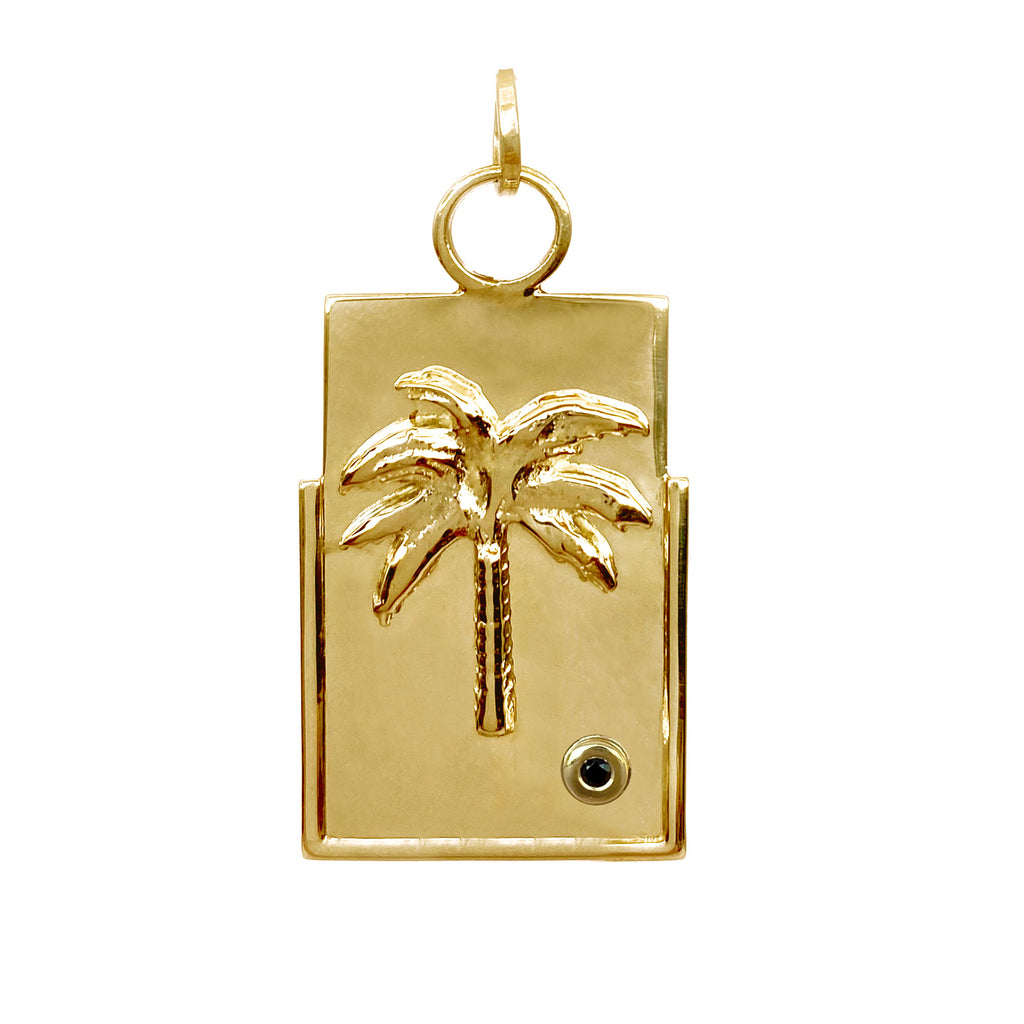 sierra-palm-tree-meallion-charm-gold-good-energy-colombian-jewelry-designers