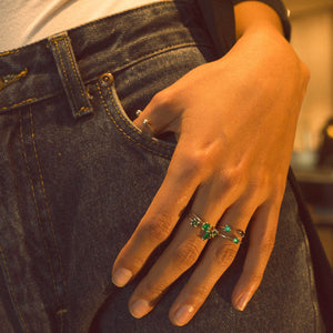 colombian emerald rings moda jewelry stacked minimal